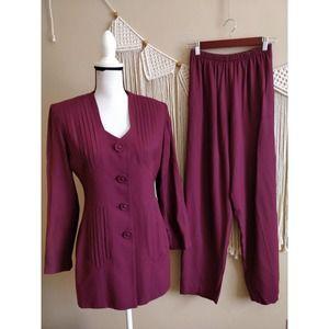 Lew Magram New York Vintage Maroon Pants Suit 4